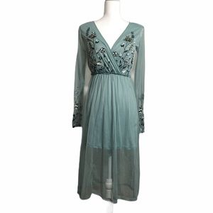 Xhilaration embroidered boho chiffon dress. XS